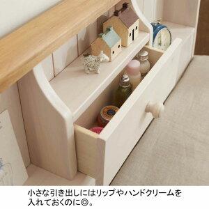 【お得なクーポンあり!】カントリー調収納付きベッドUD(zacca)(木製ベッド収納ベッドシングルベッド棚付きコンセント付きすのこベッドスノコベッド引き出し付きベッド引出し付き)【大型】