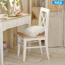 【送料無料】 パソコンチェアアンティーク風家具UB60チェアー(zacca)(チェア椅子イスいすパソコンチェアー白ホワイトワークチェア)【直送】