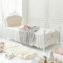 モダンライト・コンセント付き収納ベッド Farben ファーベン 羊毛入りゼルトスプリングマットレス付き ダブル ホワイト