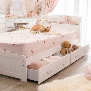 収納付きすのこベッドEYシングル(マットレス付き)※メーカーお届け品収納ベッドシングル収納付きベッドすのこベッド姫系