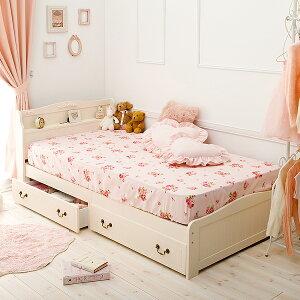 収納付きすのこベッドEYセミシングルショート(マットレス付き)※メーカーお届け品収納ベッドセミシングルショート収納付きベッドすのこベッド姫系