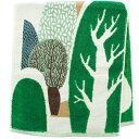 楠橋紋織 フェイスタオル MiW 森のわが家 グリーン 約34cm×80cm 1