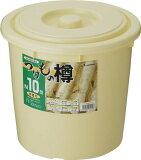 リス 漬物樽NI10型 アイボリー