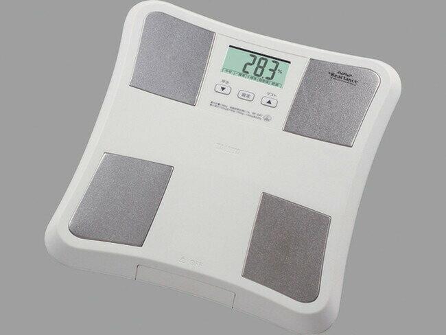 【送料無料】タニタ(TANITA)【体重計】 体脂肪計付きヘルスメーター(BF-047-WH) ホワイト