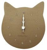 【ティーズコレクション】壁掛け時計 ネコ プチット クロック ブラウン 奥行約3×幅13×高さ14cm (CL-89 BR)