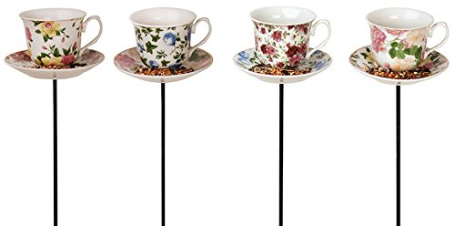 【Tea cup with Saucer Stake Feeder】 Tea cup with Saucer Stake Feeder    b00fegr4py:生活総合倉庫
