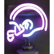 【Neonetics Sports Football Helmet Neon Sign Sculpture Purple/White by Neonetics】 b001al4h8e