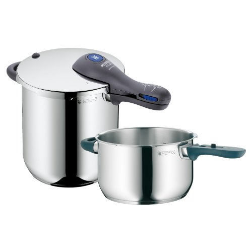 【WMF Perfect Plus 8-1/2-Quart and 4-1/2-Quart Stainless Steel Pressure Cookers with Interchangeable Locking Lid by WMF】     b005eqk3ie:生活総合倉庫