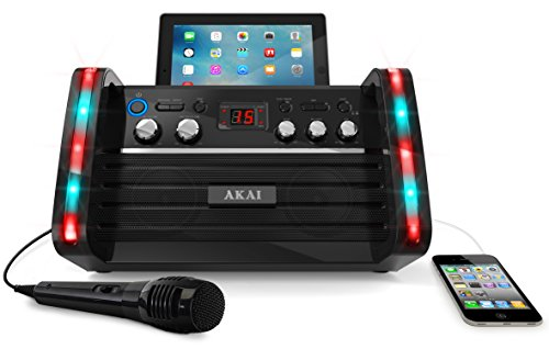 【Akai KS-213 CD+G Karaoke Player with iPad Cradle(US Version imported by uShopMall U.S.A.)...