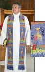 【送料無料】【Hope Peace Love The Story of Christmas Bishop Tapestry Vestment Stole with Tassles by Autom】 b00bud0qqe