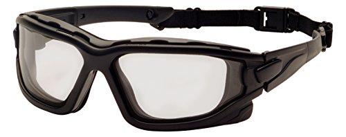 【Pyramex SB7025SDT I-Force Sealed Safety Goggles with Temples Strap and Light Gray Anti-Fog...