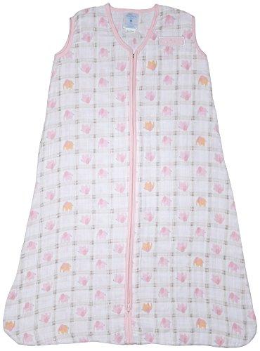 【Halo Sleep Sack Wearable Cotton Muslin Blanket Elephant Plaid Large by Halo】 b00s2v89io