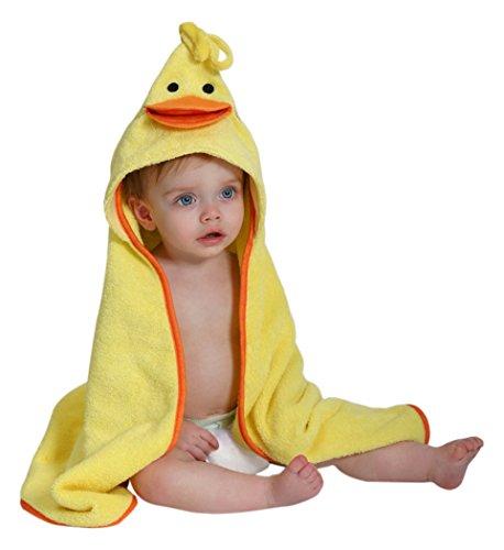 【ZOOCCHINI 3Dフードタオル 100%コットン バスタオル Puddles the Duck】 b00s56x63e