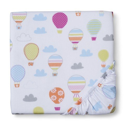 【Circo Up We Go Balloon Fitted Crib Sheet by Circo】 b00sc1gavc