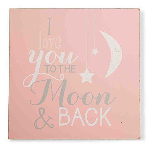 【Mud Pie Plaque To The Moon Pink by Mud Pie】 b00tgm4w2k