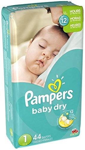 【Pampers Baby Dry Diapers size1 44ct by Pampers】 b00spqu5vk