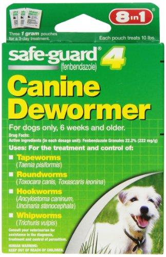 【8 In 1 Safe Guard Canine DeWormer for S Dogs 1-Gram by Excel】 b000fph2ew
