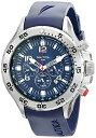 【送料無料】【Nautica ナウティカ 男性用腕時計 Men's N14555G NST Stainless Steel Watch with Blue Resin Band 並行輸入】 b0014jid14