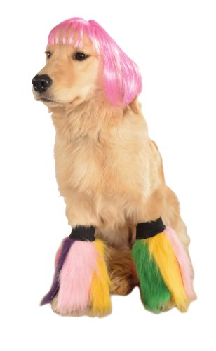 【Rubie's Wig for Pets Medium to Large Hot Pink Short Bob by Rubie's】 b00cjq3h44