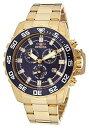 【送料無料】【Invicta Men 's 13631?Pro Diverアナログ表示SwissクオーツGold Watch】