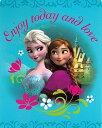 【送料無料】【Disney Princess Frozen - Sister Love Enjoy Today and Love Elsa Anna 40x50 Mink Style Blanket in Gift Box by Disney】 b015ryrifi
