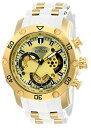 【送料無料】【[インビクタ]Invicta 腕時計 Pro Diver メンズ 石英 50mm ケース ホワイトゴールド シリコン ステンレスストラップ ゴールドダイヤル 23424 メンズ 【正規輸入品】】 b01mriqaot