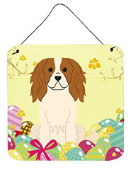 【Caroline 's Treasures bb6058ds66 Easter Eggs Cavalier Spanielメタル印刷、6 x 6インチ、マルチカラー】 b06xkmsckc[生活総合倉庫 楽天市場店]