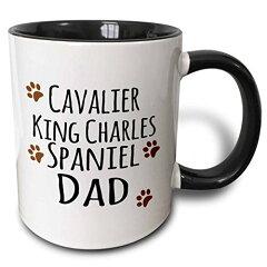 【3drose 3drose Cavalier King Charles Spaniel Dog Dad Doggie by Breed ブラウンMuddy Paw Prints 犬愛好家所有者 2トーンブラック、11オンス( Mug _ 153882 _ 4)、、ブラック/ホワイト】 b013obpuwo[生活総合倉庫 楽天市場店]
