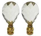 【ロイヤルデザインダイヤモンドスイスカットクリスタルランプフィニアルPolished Brassベース Pair CCF2006M-PB-2】 b076b7z5d8
