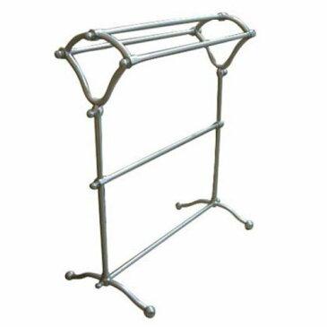 【Kingston Brass CC2288 Pedestal Y-Type Towel Rack with White Box Satin Nickel [並行輸入品]】