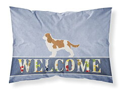 【Caroline 's Treasures bb5553pillowcase Cavalier King Charles Spaniel Welcome枕カバー、マルチカラー、標準】 b01n7059ct[生活総合倉庫 楽天市場店]