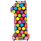 "【Number One Mighty Bright Polka Dot Megaloon 40 "" Mylar Foil Balloon】 n b00bm5ycvk"