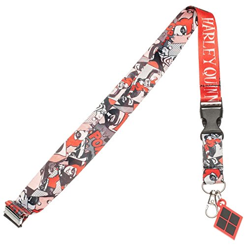 【DC Comics Harley Quinn ComicロゴランヤードIDホルダーwith Rubber Charm】 n b01bd34kna