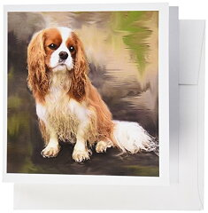 【犬Cavalier King Charles Spaniel Cavalier グリーティングカード Set of 12 Greeting Cards】 b002jsm3c4[WORLD倉庫 楽天市場店]