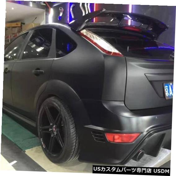輸入カーパーツ EMSによるフォードフォーカスハッチバック2005-2015用カーボンファイバーカーリアウィングトランクリップスポイラー(ランプ付き) Carbon Fiber CAR REAR WING TRUNK LIP SPOILER FOR Ford Focus Hatchback 2005-2015 BY EMS (With LAMP)