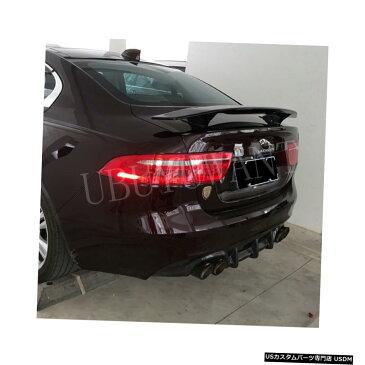 輸入カーパーツ UBUYUWANT汎用カースタイリングABS素材および表面カーボンファイバージャガーXE XFユニバーサルスポイラー用リアスポイラー UBUYUWANT General Purpose Car Styling ABS Material and Surface Carbon Fiber Rear Spoiler for Jaguar XE XF Universal Car Sp