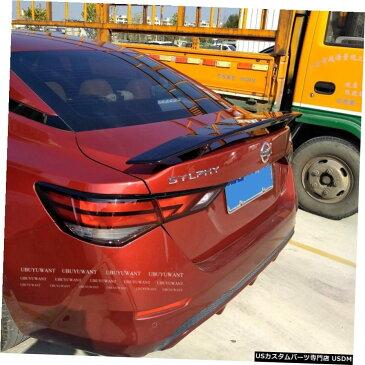 輸入カーパーツ 日産シルフィ2019ユニバーサルカースポイラー用汎用カースタイリングABS素材と表面カーボンファイバーリアスポイラー General Purpose Car Styling ABS Material and Surface Carbon Fiber Rear Spoiler for Nissan SYLPHY 2019 Universal Car Spoiler
