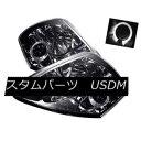 ヘッドライト Mitsubishi 00-05 Eclipse Smoke Halo LED Proj...
