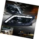 ヘッドライト 2010 2011 2012 Ford Fusion Projector Black Headlights W/ LED Driving Light Strip 2010年2011年2012 Ford FusionプロジェクターブラックヘッドライトLED駆動ライトストリップ