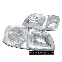 ヘッドライト1997-2003FordExpeditionClearLEDHeadlights+ChromeCornerSignalLightsF1501997-2003FordExpeditionクリアLEDヘッドライト+Chromeコーナー信号ライトF150