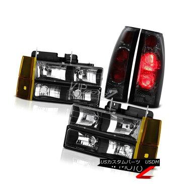 ヘッドライト 94-98 GMC Sierrra 3500 Inky Black Headlights Bumper Tail Lights Factory Style 94-98 GMC Sierra 3500 Inky Blackヘッドライトバンパーテールライトファクトリースタイル