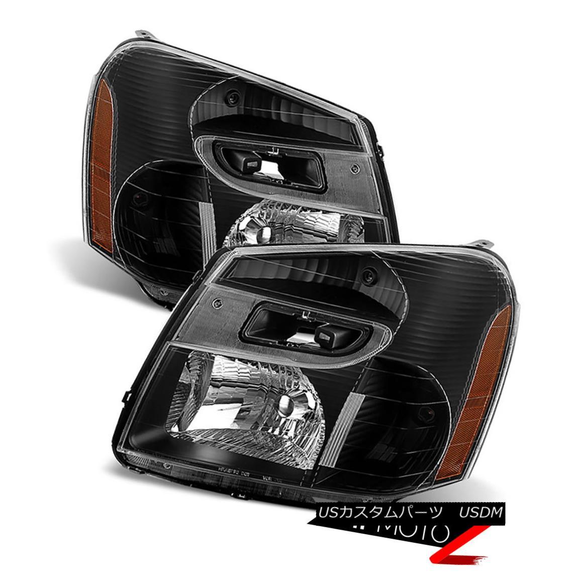 ライト・ランプ, ヘッドライト  2005-2009 Chevrolet Equinox LT LTZ LS Black Front Headlights Headlamp LEFT RIGHT 2005-2009LT LTZ LSLEFT RIGHT