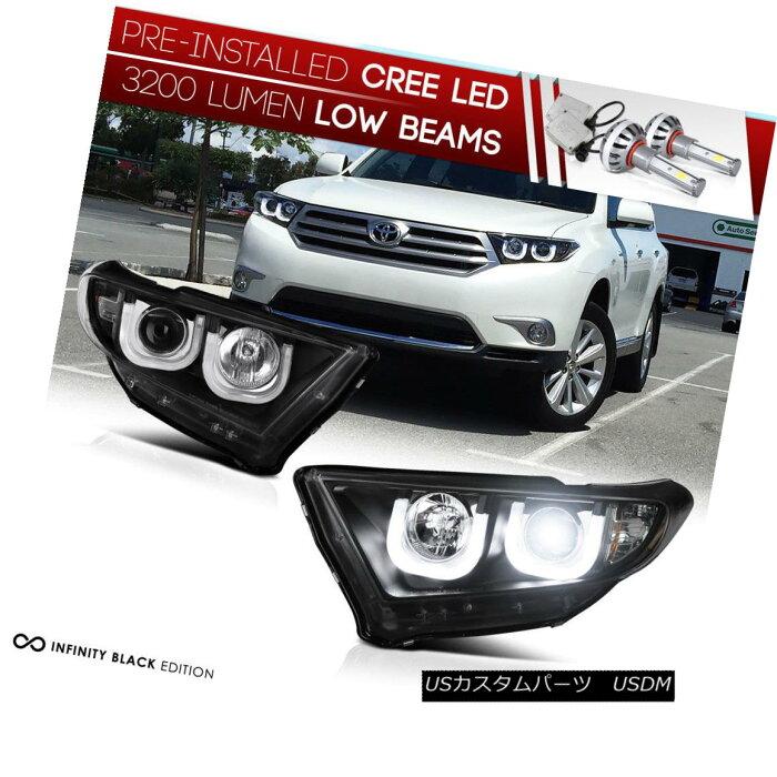 ヘッドライト [CREE LED LOW BEAM] [NEWEST SEXIEST] 2011-13 Toyota Highlander Head Lights Halo [CREE LED LOW BEAM] [最新のSEXIEST] 2011-13トヨタハイランダーヘッドライトハロー