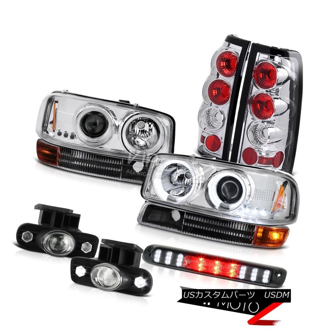 ライト・ランプ, ヘッドライト  99-02 Sierra WT Euro CCFL Halo Headlamps Altezza Tail Lights Projector Foglights 99-02 Sierra WT Euro CCFL HaloAltezza Tail Lights