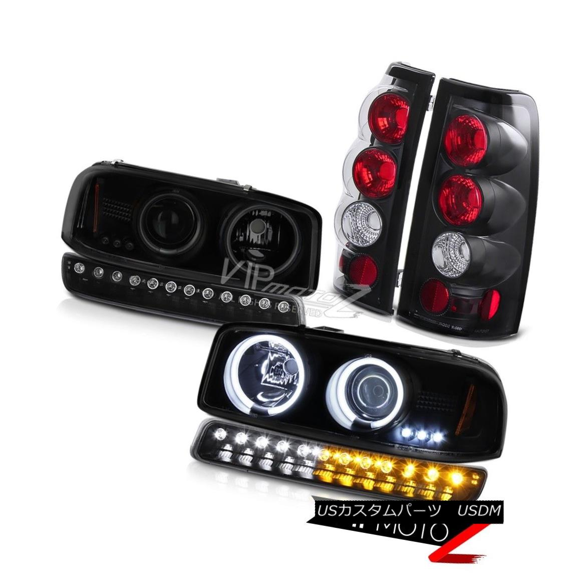 05-07 F250 Diesel Black Headlights Smoke Red Tail Lights Roof Brake LED Tint