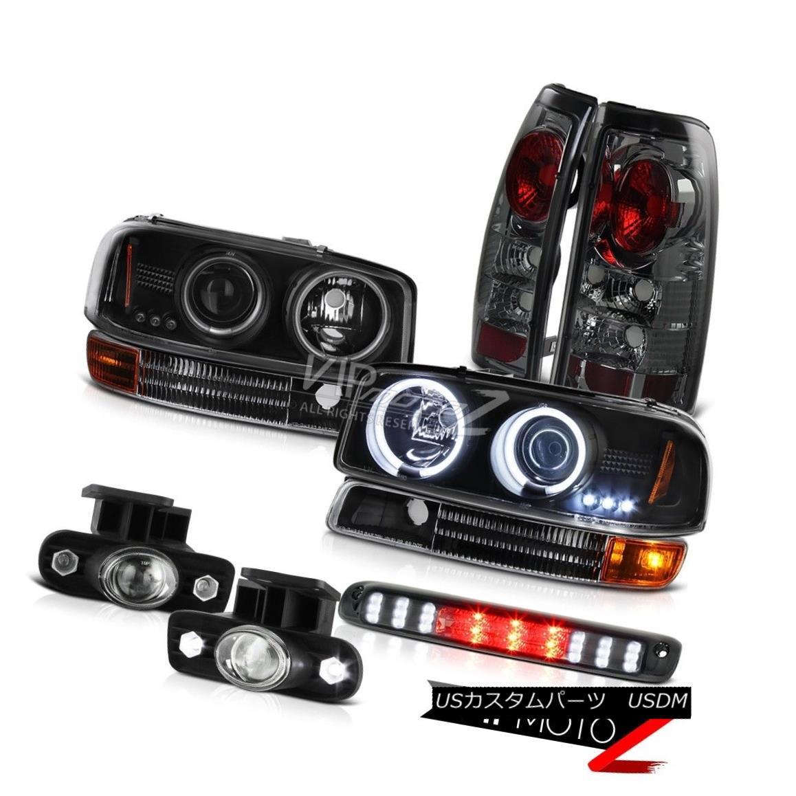 ライト・ランプ, ヘッドライト  99-02 Sierra 4.3L Black CCFL Headlights Satin Signal Altezza Taillight Glass Fog 99-02 Sierra 4.3LCCFLAltezza Tillight Glass Fog