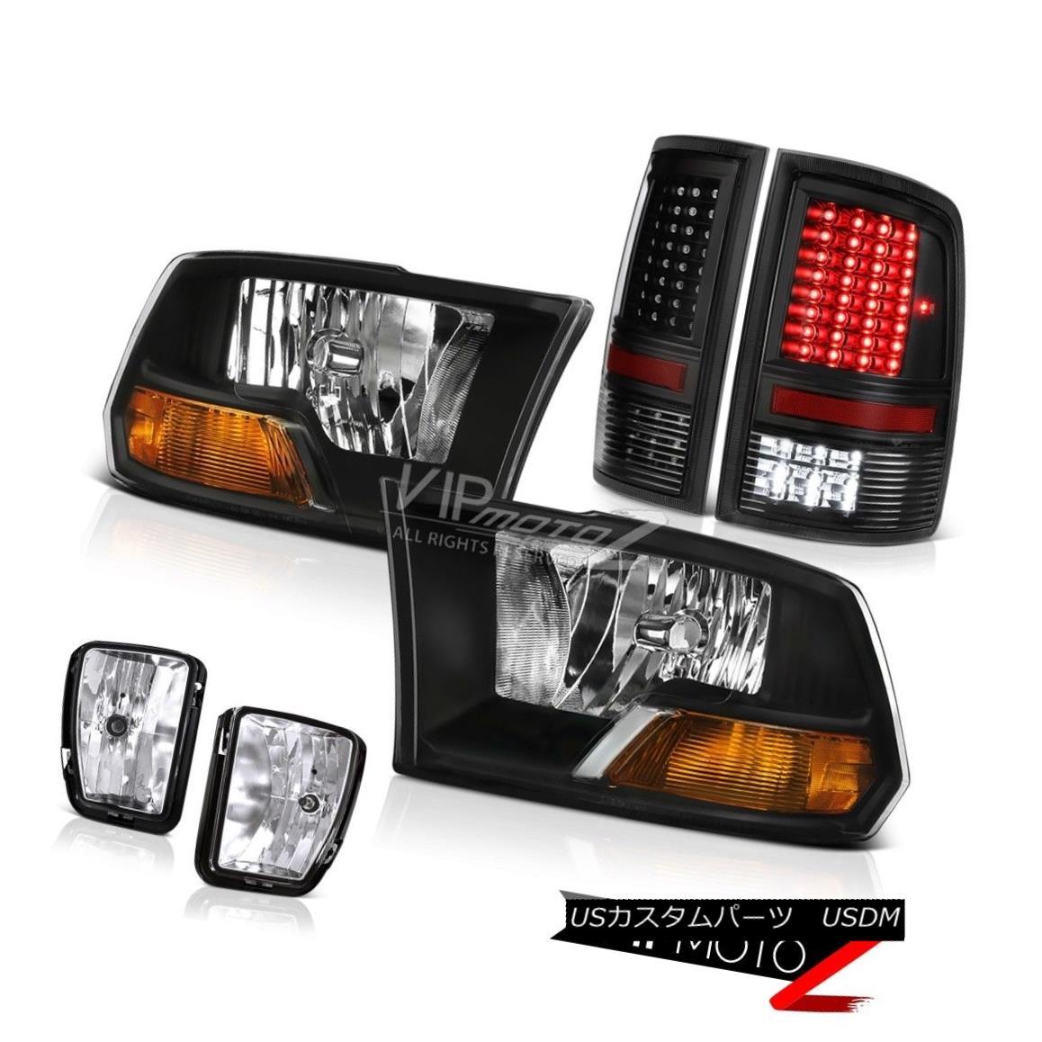 ヘッドライト 13-17 Ram 1500 SLT Nighthawk Black Taillights Foglights Headlamps SMD Assembly 13-17 Ram 1500 SLTナイトホークブラックテールライトFoglightsヘッドランプSMDアセンブリ画像