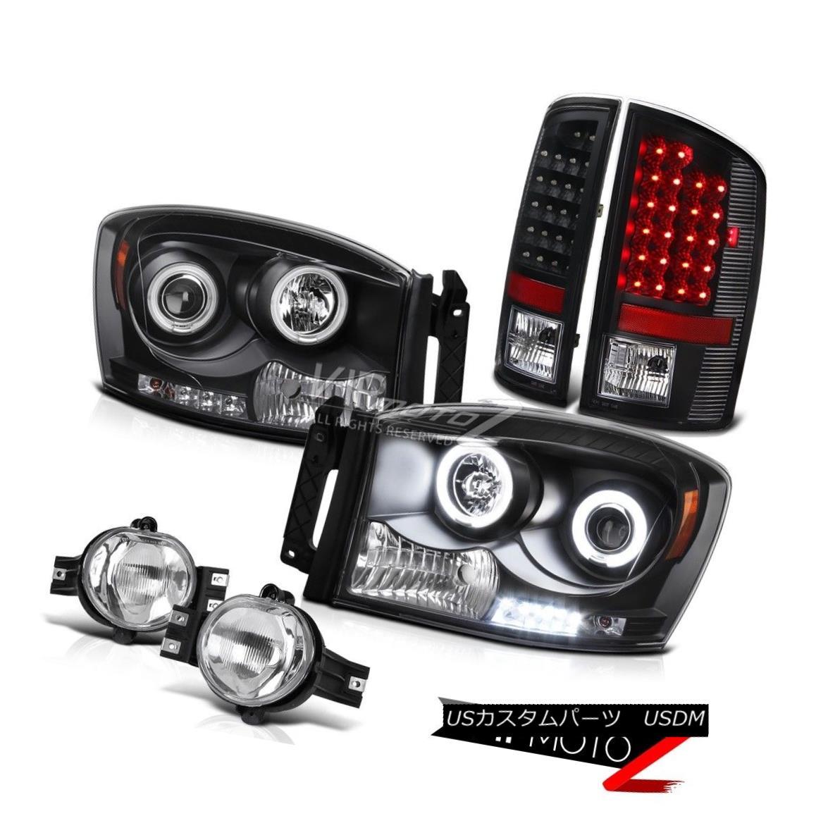 ライト・ランプ, ヘッドライト  Dodge RAM 06 Truck Smoke LED Tail LightHaLo Projector HeadlightClear Fog Light RAM 06LED r