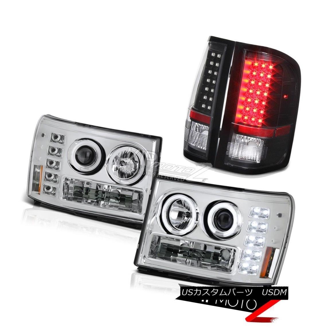 ライト・ランプ, ヘッドライト  2008 2009 2010 GMC Sierra 6.0L WT Altezza CCFL Halo Head Lights Black LED Tail 200820092010 GMC Sierra 6.0L WT Altezza CCFL HaloLED