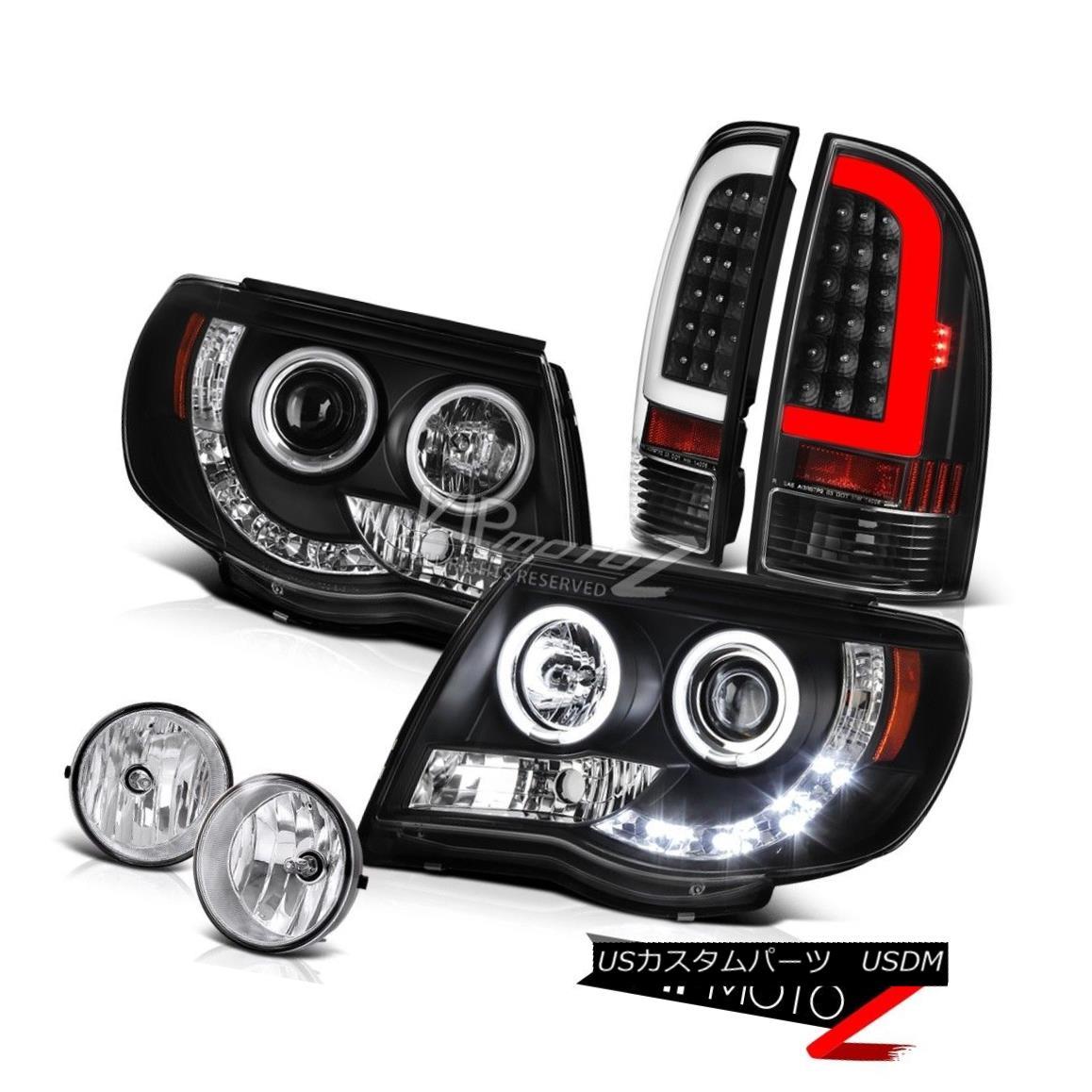 ヘッドライト 05 06-11 Toyota Tacoma Nighthawk Black Fiber Optic Rear Head Lights Chrome Fog 05 06-11トヨタタコマナイトホークブラックファイバーオプティカルリアヘッドライトクロムフォグ画像